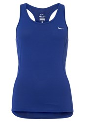 Nike Performance Contour Sports Shirt Deep Royal Blue Reflective Silver Dark Blue