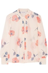 Paul And Joe Parafe Printed Cotton And Silk Blend Voile Shirt Pink