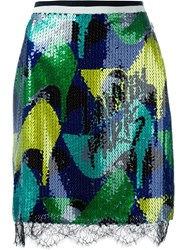 Lanvin Sequin Pencil Skirt Multicolour