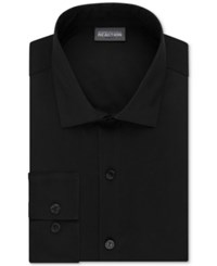 Kenneth Cole Reaction Men's Tall Slim Fit Techni Stretch Performance Dress Shirt Black