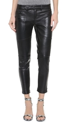 One Teaspoon Hustle Skinny Leather Pants Onyx