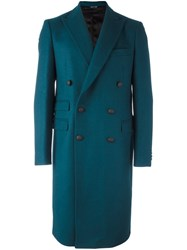 Andrea Pompilio Classic Double Breasted Coat Green