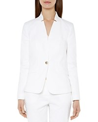 Ted Baker Blisa Notched Collar Blazer White