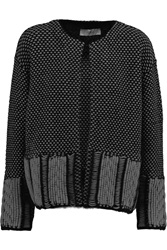 Pringle Jacquard Knit Cardigan Black