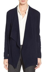 Nordstrom Women's Collection Cashmere Cascade Cardigan Navy Medieval