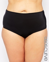 Asos Curve Exclusive Bikini Bottom Mix And Match Black