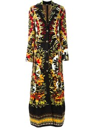 Roberto Cavalli Long Patterned Coat Multicolour