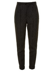 Isabel Marant Iola Checked Wool Trousers Black
