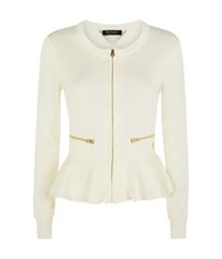 Juicy Couture Peplum Cardigan Ivory