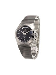 Omega 'Constellation Day Date' Analog Watch Stainless Steel