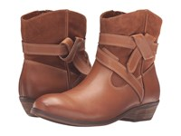 Softwalk Roper Cognac Smooth Leather Cow Suede Women's Boots Brown