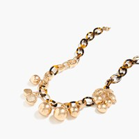 J.Crew Tortoise Link Necklace With Cherries Gold