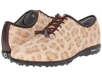 Footjoy Tailored Collection Cheetah Dark Brown Men's Golf Shoes Neutral