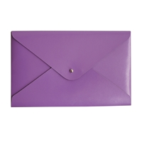 Paperthinks Purple Leather Medium File Holder