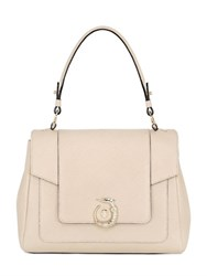 Trussardi Icon Perforated Leather Top Handle Bag