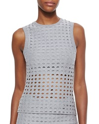T By Alexander Wang Sleeveless Netted Knit Top