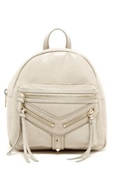 Botkier Trigger Dome Mini Leather Backpack Gray