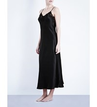 Nk Imode Morgan Stretch Lace And Silk Satin Gown Black Black Lace