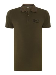 Emporio Armani Short Sleeve Train Core Id Polo Khaki