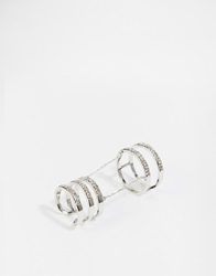 Aldo Cavalo Two Finger Ring Silver