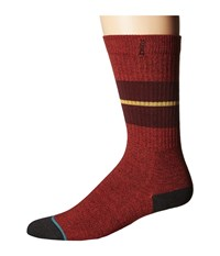 Stance Sequoia 2 Maroon Men's Crew Cut Socks Shoes Red