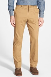 Wallin And Bros 'Bedford' Flat Front Corduroy Trousers Beige