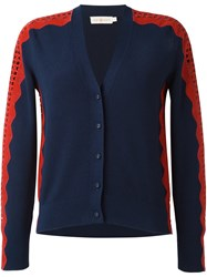 Tory Burch 'Gabrielle' Cardigan Blue