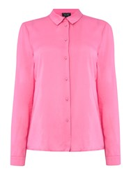 Armani Jeans Long Sleeve Woven Blouse Pink