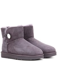 Ugg Mini Bailey Embellished Suede Ankle Boots Purple