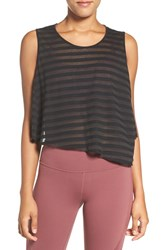 Alo Yoga Women's Shadow Stripe Crop Tank