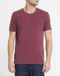 American Vintage Burgundy Odamint Round Neck T Shirt