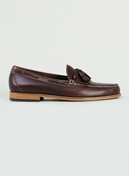 Topman Bass Weejuns Layton Pull Up Brown Leather Loafers