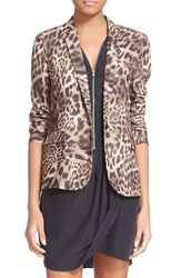 Women's The Kooples Leopard Print Crepe Blazer
