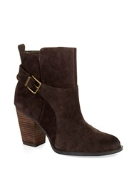Ivanka Trump Falla Ankle Boots Chocolate Brown Suede