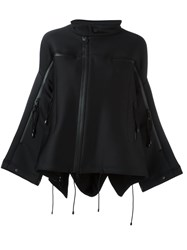 Y 3 Flared Zipped Oversized Jacket Black