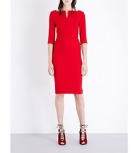 Roland Mouret Etty Stretch Crepe Dress Red