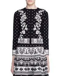 Alexander Mcqueen Floral Jacquard Cardigan Black White Black White