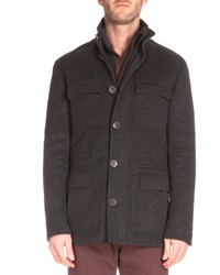 Berluti Four Pocket Cashmere Jacket Charcoal