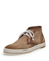 Cortina Suede Ankle Boot Taupe Berluti Brown