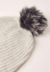 Missguided Soft Knit Beanie Hat Stone