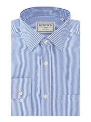 Howick Fairbanks Bengal Stripe Shirt Royal Blue