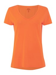 Polo Ralph Lauren Christie Plain V Neck T Shirt Orange