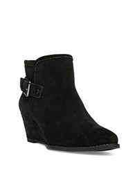 Franco Sarto Wichita Suede Wedge Ankle Boots Black