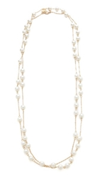 Juliet And Company Imitation Pearl Wrap Necklace Antique Gold