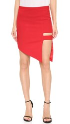 Mason By Michelle Mason Cage Skirt Red