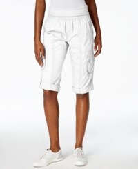 Calvin Klein Performance Cargo Capri Pants White