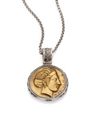 Konstantino Kerma Olympia Bronze And Sterling Silver Coin Pendant Silver Bronze
