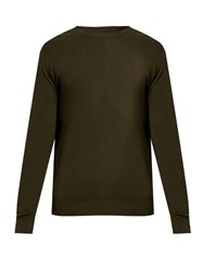 Polo Ralph Lauren Crew Neck Wool Sweater Khaki