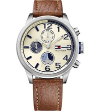 Tommy Hilfiger 1791239 Stainless Steel And Leather Watch Cream