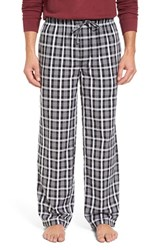 Nordstrom Men's Big And Tall Men's Shop Woven Lounge Pants Black White Tartan Plaid